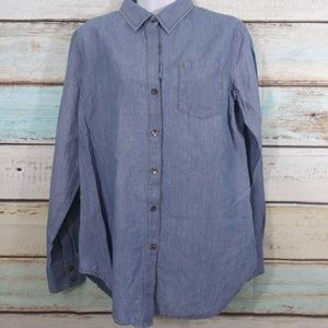 Theory Nikala Boyfriend Button Shirt